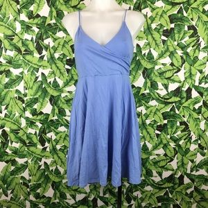 5 for $25 Forever 21 Periwinkle Faux Wrap Dress